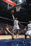 Indiana Pacers v Atlanta Hawks: Damien Wilkins and Mike Dunleavy Photographic Print by Scott Cunningham