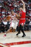 Chicago Bulls v Houston Rockets: Shane Battier and Kyle Korver Photographic Print by Bill Baptist