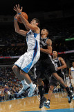 San Antonio Spurs v New Orleans Hornets: Marco Belinelli and George Hill Photographic Print by Layne Murdoch