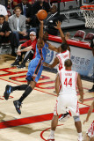 Oklahoma City Thunder v Houston Rockets: Kyle Lowry and Kevin Durant Photographic Print by Bill Baptist
