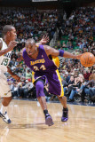 Los Angeles Lakers v Utah Jazz: Kobe Bryant and Raja Bell Photographic Print by Melissa Majchrzak