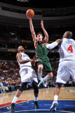 Milwaukee Bucks v Philadelphia 76ers: Ersan Ilyasova, Marreese Speights and Tony Battie Photographic Print by Jesse D. Garrabrant
