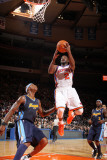 Denver Nuggets v New York Knicks: Raymond Felton and Al Harrington Photographic Print by Nathaniel S. Butler