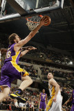 Los Angeles Lakers v Indiana Pacers: Pau Gasol and Josh McRoberts Photographic Print by Ron Hoskins