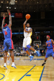 Detroit Pistons v Golden State Warriors: Ben Wallace and Dorell Wright Photographic Print by Rocky Widner
