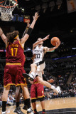 Cleveland Cavaliers v San Antonio Spurs: Manu Ginobili and Anderson Varejao Photographic Print by D. Clarke Evans
