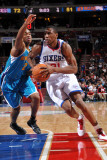 New Orleans Hornets v Philadelphia 76ers: Thaddeus Young and Jarrett Jack Photographic Print by David Dow