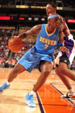Denver Nuggets v Phoenix Suns: Al Harrington and Channing Frye Photographic Print by Barry Gossage