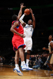 Philadelphia 76ers v Washington Wizards: John Wall and Thaddeus Young Photographic Print by Ned Dishman