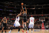 San Antonio Spurs v Los Angeles Clippers: George Hill, DeAndre Jordan and Baron Davis Photographic Print by Noah Graham
