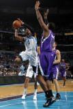Sacramento Kings v New Orleans Hornets: Chris Paul and Carl Landry Photographic Print by Layne Murdoch