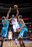 New Orleans Hornets v Philadelphia 76ers: Elton Brand and Emeka Okafor Photographic Print by David Dow