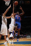 New York Knicks v Washington Wizards: Amar'e Stoudemire, Yi Jianlian and JaVale McGee Photographic Print by Ned Dishman