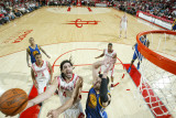 Golden State Warriors v Houston Rockets: Luis Scola and Vladimir Radmanovic Photographic Print by Bill Baptist