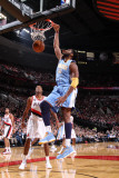 Denver Nuggets v Portland Trail Blazers: Nene Hilário Photographic Print by Sam Forencich