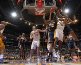 Indiana Pacers v Los Angeles Lakers: Ron Artest Photographic Print by Andrew Bernstein
