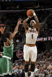 Boston Celtics v Cleveland Cavaliers: Daniel Gibson and Rajon Rondo Photographic Print by David Liam Kyle