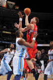 Los Angeles Clippers v Denver Nuggets: Blake Griffin and Shelden Williams Photographic Print by Garrett Ellwood