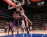 Los Angeles Lakers v Los Angeles Clippers: Blake Griffin, Pau Gasol and Lamar Odom Photographic Print by Noah Graham