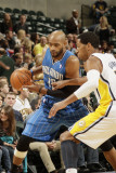 Orlando Magic v Indiana Pacers: Vince Carter and Danny Granger Photographic Print by Ron Hoskins