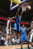 Orlando Magic v Utah Jazz: Brandon Bess and Andrei Kirilenko Photographic Print by Melissa Majchrzak