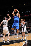 Dallas Mavericks v San Antonio Spurs: Dirk Nowitzki and Manu Ginobili Photographic Print by D. Clarke Evans