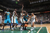 New Orleans Hornets v Utah Jazz: Deron Williams and David West Photographic Print by Melissa Majchrzak