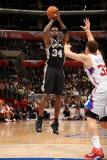 San Antonio Spurs v Los Angeles Clippers: Antonio McDyess and Blake Griffin Lmina fotogrfica por Andrew Bernstein