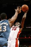 Washington Wizards v Miami Heat: Joel Anthony Photographic Print by Issac Baldizon
