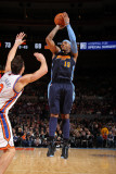 Denver Nuggets v New York Knicks: Carmelo Anthony and Danilo Gallinari Photographic Print by Nathaniel S. Butler