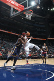 Indiana Pacers v Atlanta Hawks: Josh Smith and James Posey Photographic Print by Scott Cunningham
