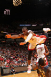 Charlotte Bobcats v Miami Heat: Dwyane Wade and Sherron Collins Photographic Print by Victor Baldizon