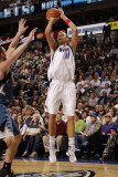 Minnesota Timberwolves v Dallas Mavericks: Dirk Nowitzki and Kevin Love Photographic Print by Danny Bollinger