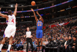 New York Knicks v Los Angeles Clippers: Toney Douglass and Randy Foye Photographic Print by Noah Graham