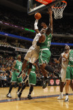 Boston Celtics v Charlotte Bobcats: Glen Davis and Gerald Wallace Photographic Print by Kent Smith