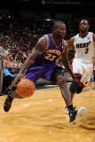 Phoenix Suns v Miami Heat: Jason Richardson and Dwyane Wade Photographic Print by Andrew Bernstein