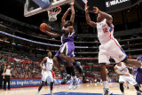 Sacramento Kings v Los Angeles Clippers: Tyreke Evans and Eric Bledsoe Photographic Print by Noah Graham
