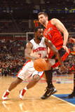 Toronto Raptors v Detroit Pistons: Ben Gordon and Andrea Bargnani Photographic Print by Allen Einstein