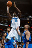 Dallas Mavericks v New Orleans Hornets: Emeka Okafor and Jason Kidd Photographic Print by Chris Graythen