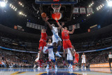 Chicago Bulls v Denver Nuggets: Ty Lawson and Joakim Noah Photographic Print by Garrett Ellwood