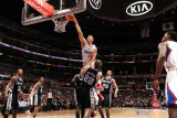 San Antonio Spurs v Los Angeles Clippers: Blake Griffin and Tiago Splitter Photographic Print by Noah Graham