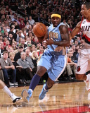 Denver Nuggets v Portland Trail Blazers: Andre Miller and Ty Lawson Photographic Print by Sam Forencich
