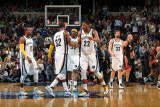 Miami Heat v Memphis Grizzlies: Rudy Gay, Zach Randolph, O.J. Mayo and Mike Conley Photographic Print by Joe Murphy
