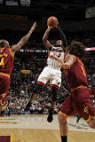 Miami Heat v Cleveland Cavaliers: Dwyane Wade, Antawn Jamison and Anderson Varejao Photographic Print by David Liam Kyle