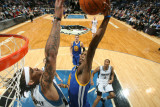 Golden State Warriors v Minnesota Timberwolves: Dorell Wright and Michael Beasley Photographic Print by David Sherman