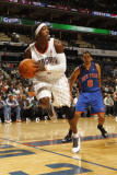 New York Knicks v Charlotte Bobcats: Gerald Wallace Photographic Print by Kent Smith