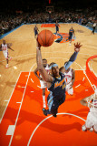 Denver Nuggets v New York Knicks: Carmelo Anthony and Ronny Turiaf Photographic Print by Nathaniel S. Butler
