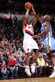 Denver Nuggets v Portland Trail Blazers: Chauncey Billups and Andre Miller Photographic Print by Sam Forencich