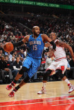 Orlando Magic v Chicago Bulls: Vince Carter and Keith Bogans Photographic Print by Gary Dineen