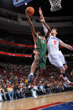 Milwaukee Bucks v Philadelphia 76ers: John Salmons and Andres Nocioni Photographic Print by Jesse D. Garrabrant